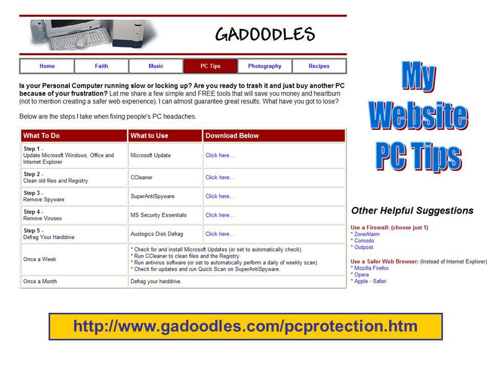 http://www.gadoodles.com/pcprotection.htm
