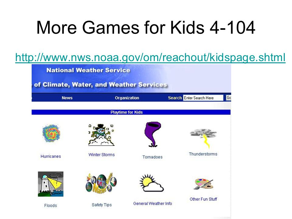 Play the games to learn the basics http://whyfiles.org http://meted.ucar.edu/hurrican/strike/index.htm http://meted.ucar.edu/hurrican/strike/ http://m