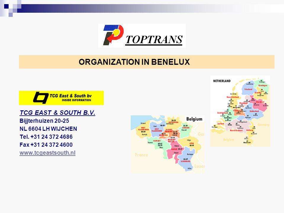 TCG EAST & SOUTH B.V. Bijjterhuizen 20-25 NL 6604 LH WIJCHEN Tel.
