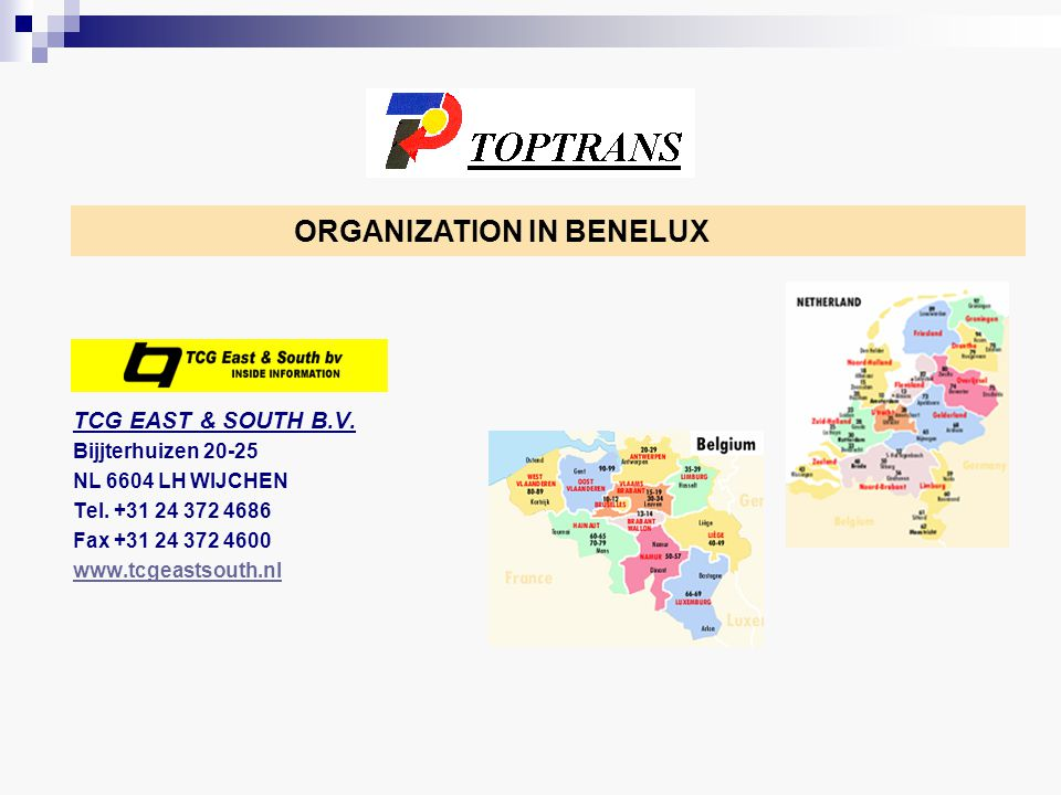 ORGANIZATION IN NORDIC COUNTRIES INTEREXPRESS AB Lunnargatan, 4 SE 59362 VÄSTERVIK Tlf.