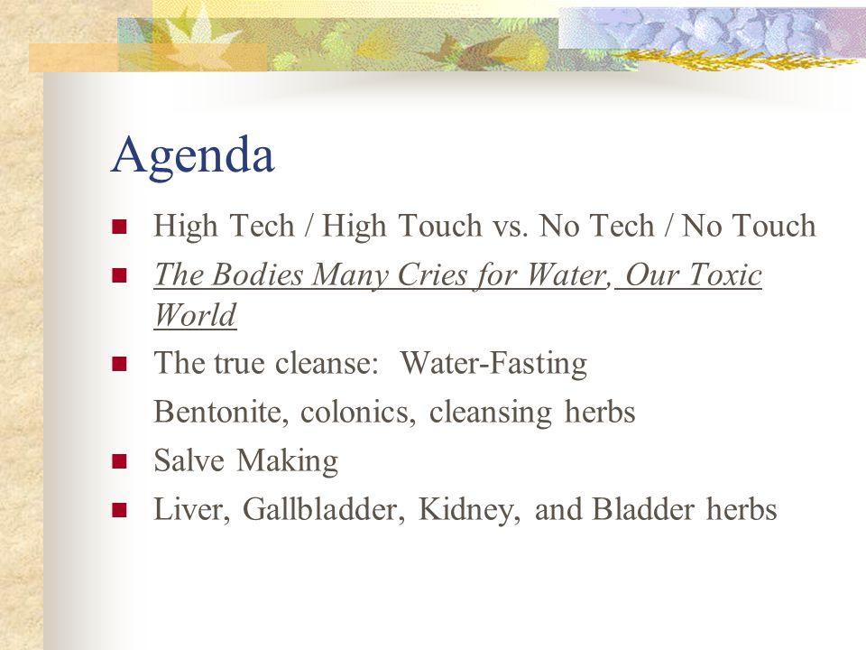 Agenda High Tech / High Touch vs.