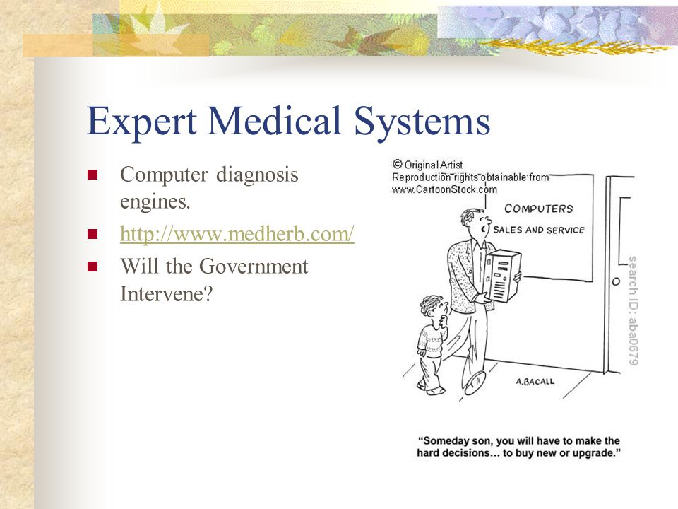 Expert Medical Systems Computer diagnosis engines.