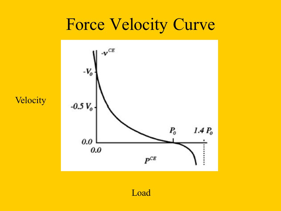 Force Velocity Curve Velocity Load