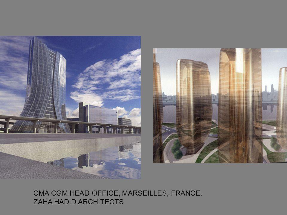 CMA CGM HEAD OFFICE, MARSEILLES, FRANCE. ZAHA HADID ARCHITECTS