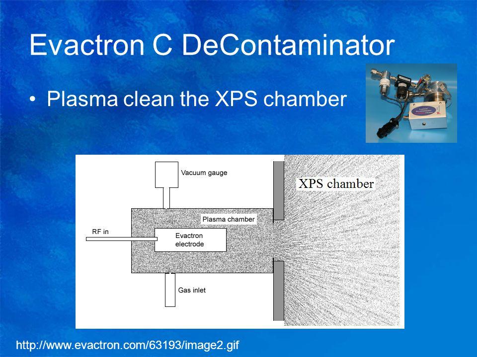 Evactron C DeContaminator Plasma clean the XPS chamber http://www.evactron.com/63193/image2.gif