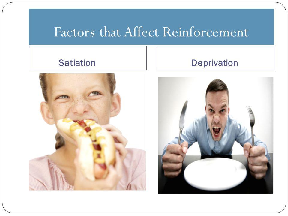 Factors that Affect Reinforcement SatiationDeprivation