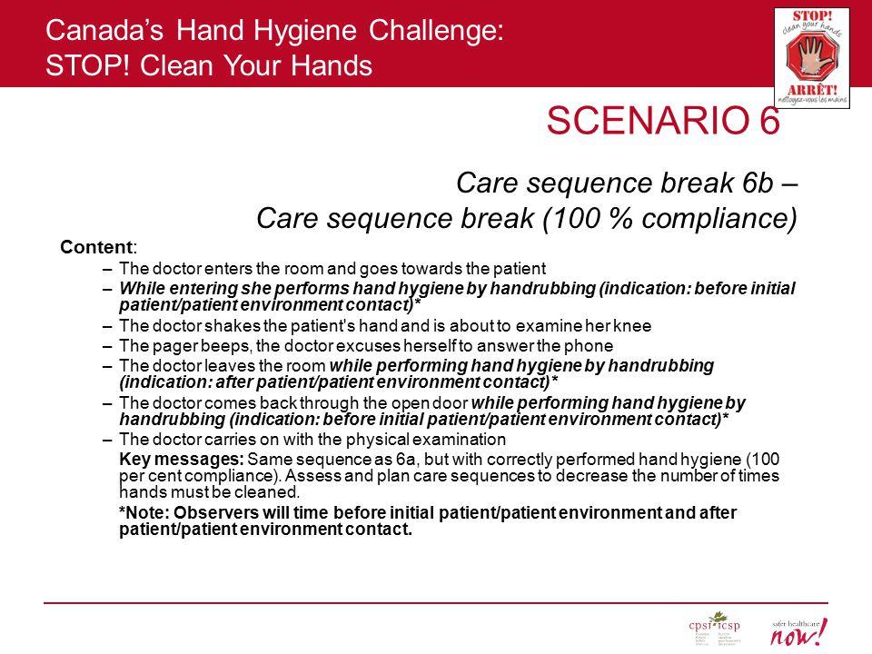 Canada's Hand Hygiene Challenge: STOP.
