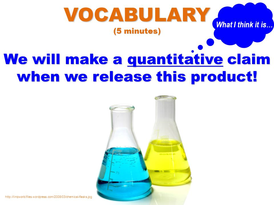 We will make a quantitative claim when we release this product.