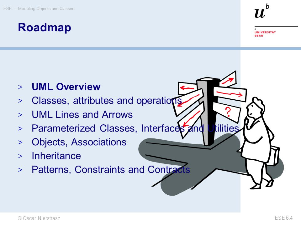 © Oscar Nierstrasz ESE — Modeling Objects and Classes ESE 6.5 UML What is UML.