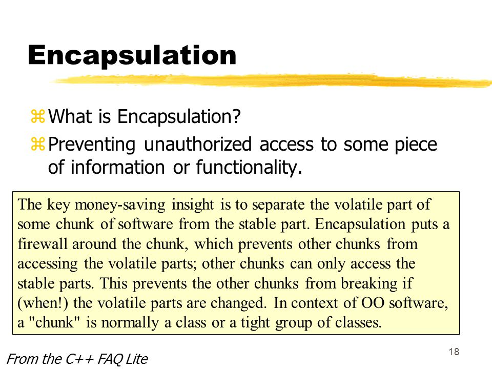 18 Encapsulation zWhat is Encapsulation.