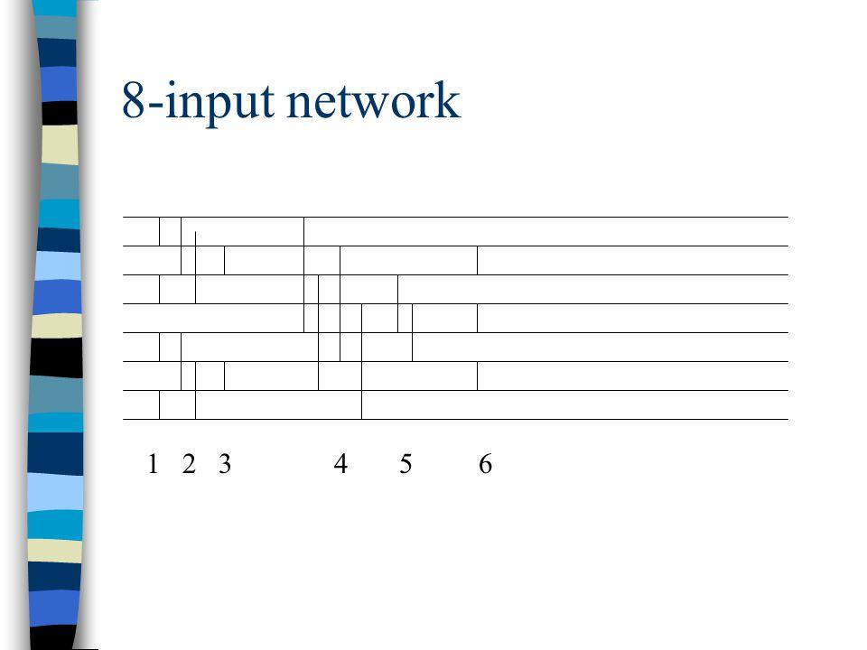 8-input network 1 2 3 4 5 6