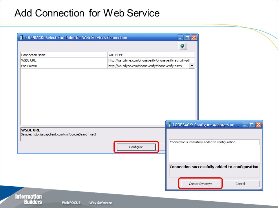 Add Connection for Web Service