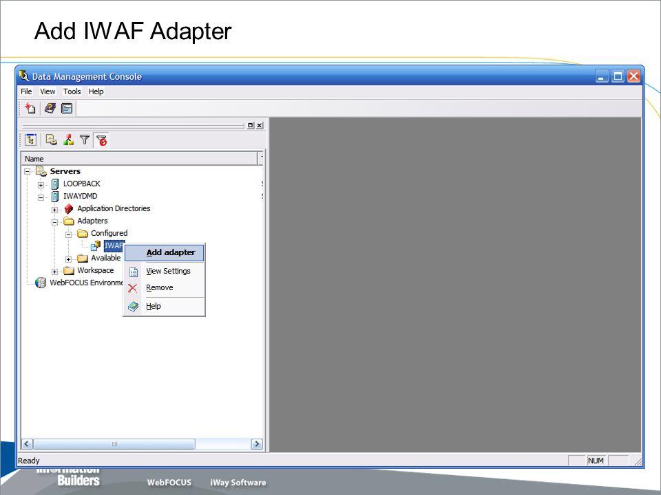 Add IWAF Adapter