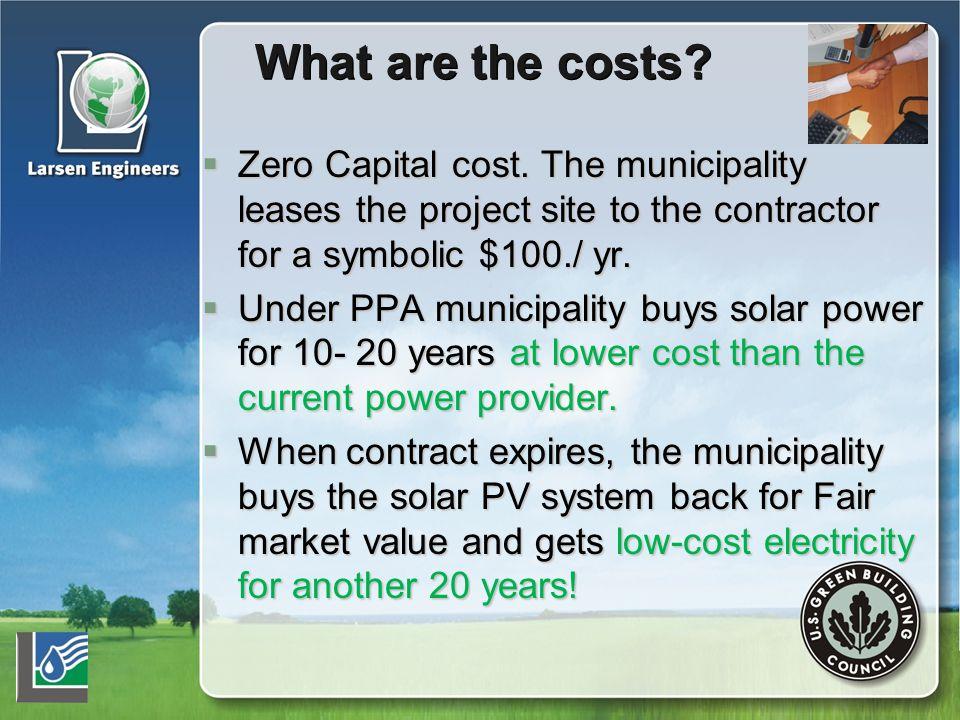  Zero Capital cost.