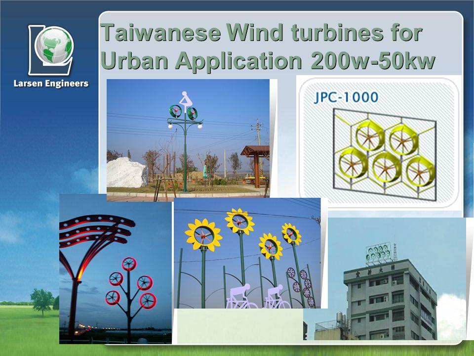 Taiwanese Wind turbines for Urban Application 200w-50kw