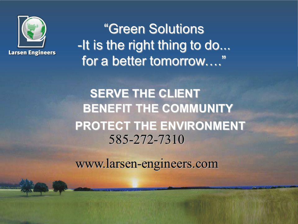 Green Solutions -It is the right thing to do...