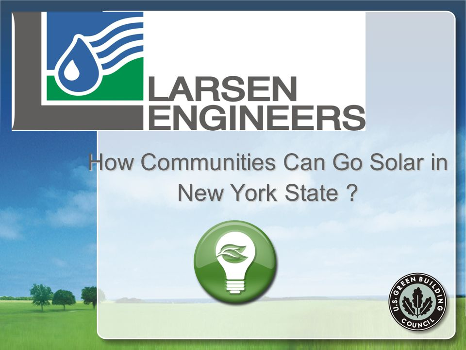 How Communities Can Go Solar in New York State