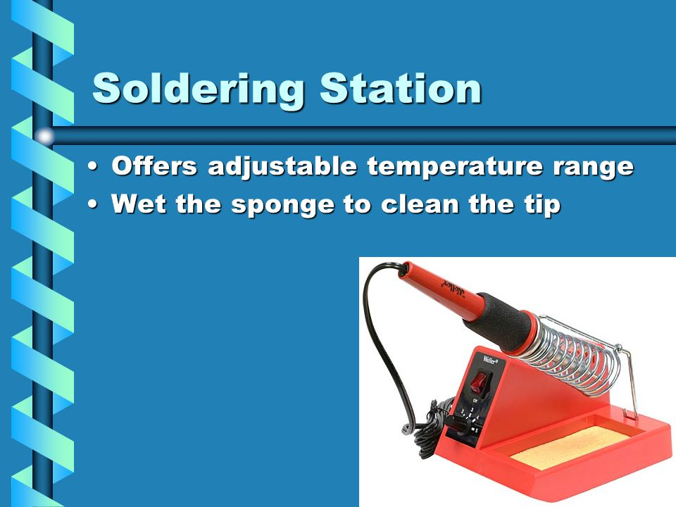 Solder Station You can always use a solder station or solder pencil instead of a solder gun.