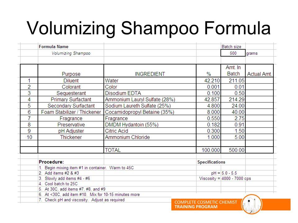 Volumizing Shampoo Formula