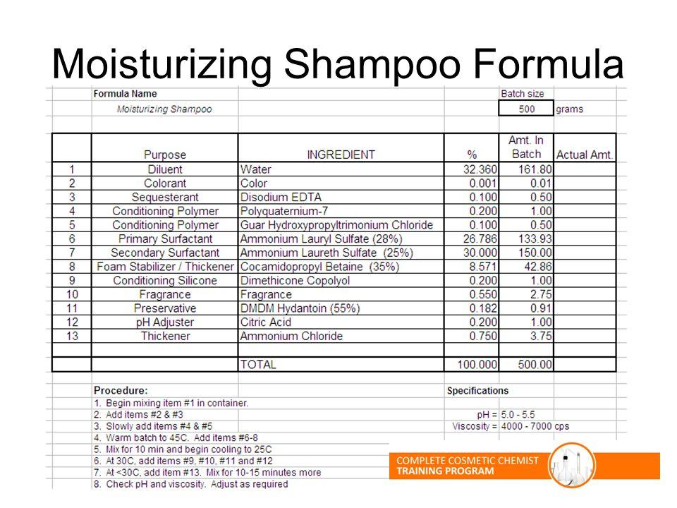 Moisturizing Shampoo Formula