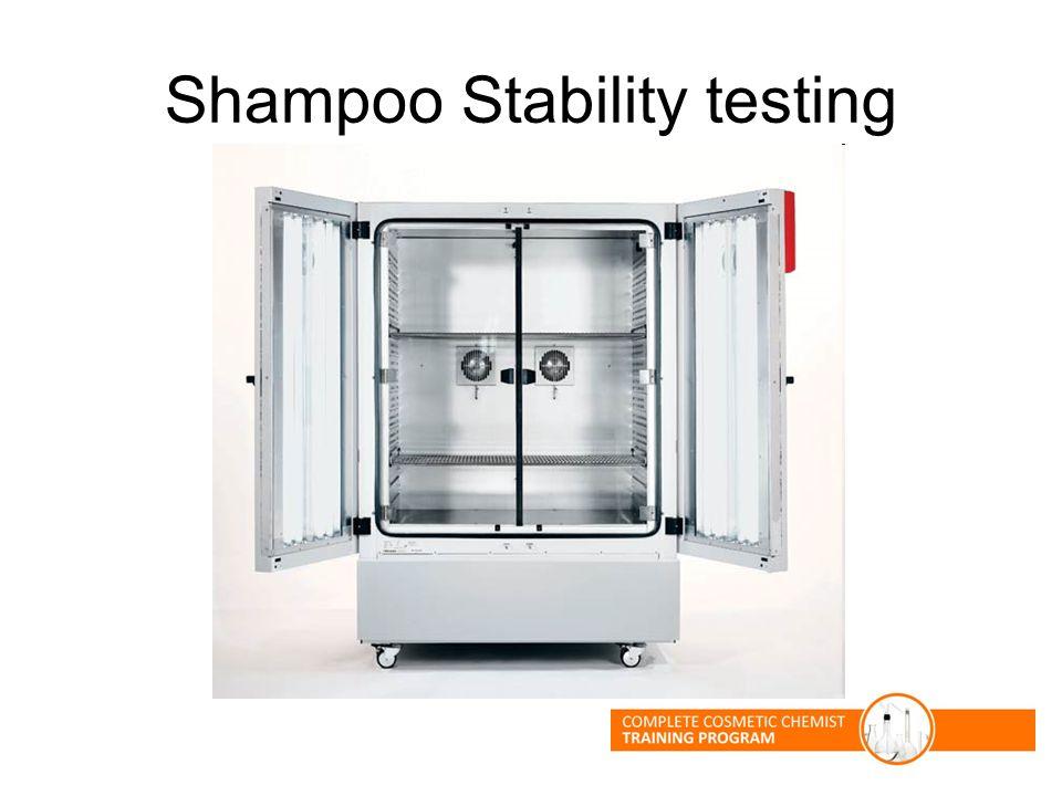 Shampoo Stability testing