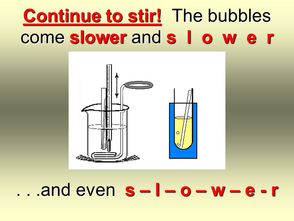 Bring the sample to a gentle boil. Watch for steady drops falling off the thermometer bulb.