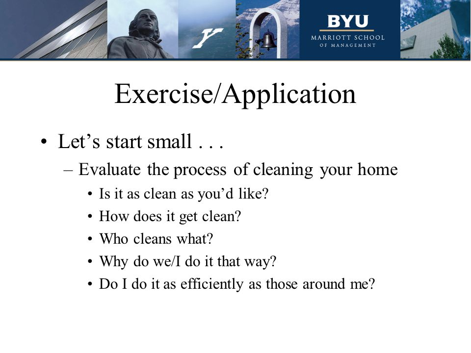 Exercise/Application Let's start small...
