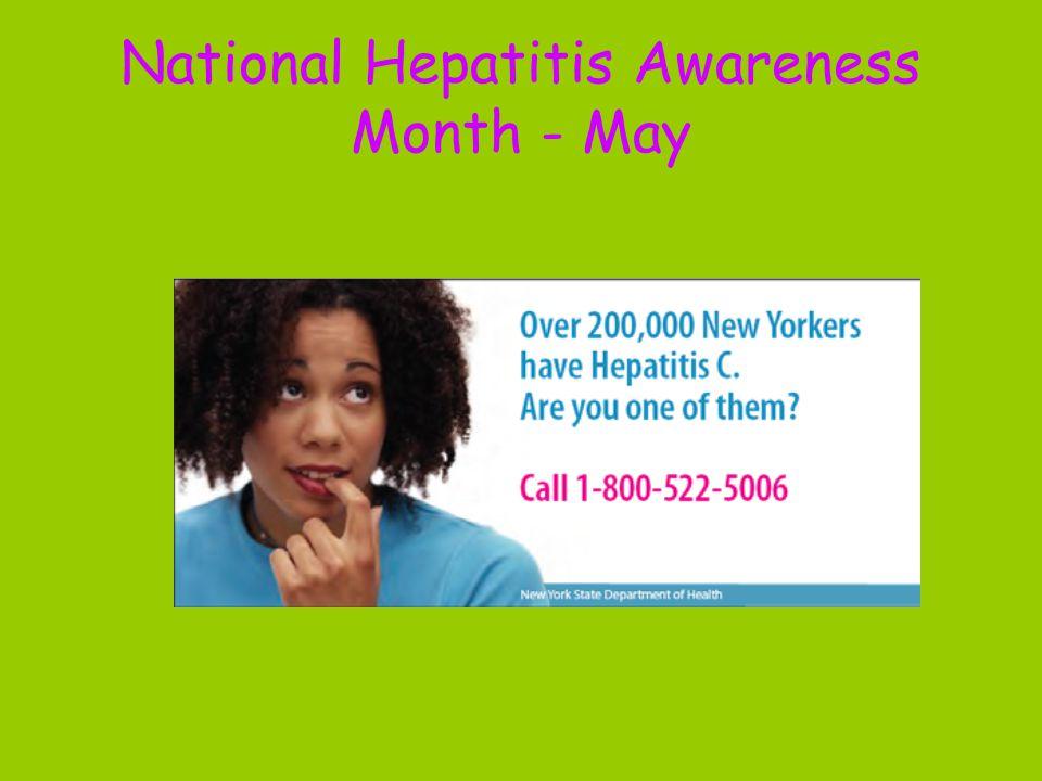 National Hepatitis Awareness Month - May
