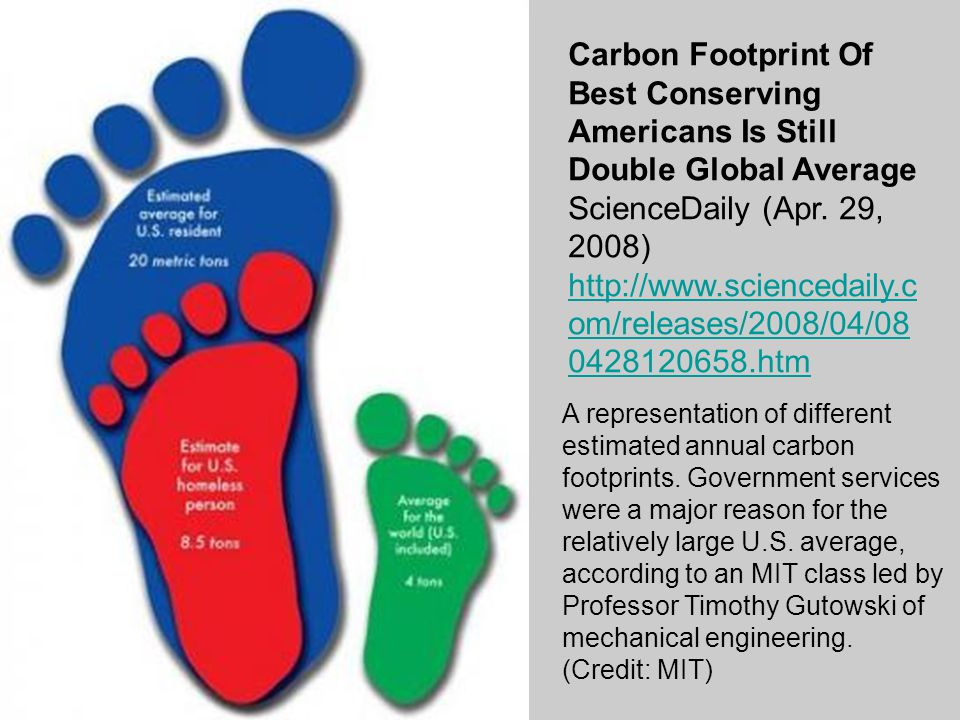 Carbon Footprint Of Best Conserving Americans Is Still Double Global Average ScienceDaily (Apr.