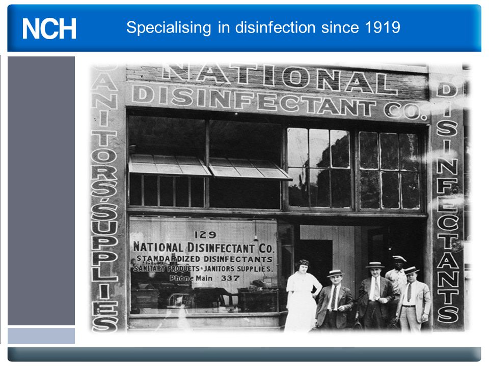 Specialising in disinfection since 1919