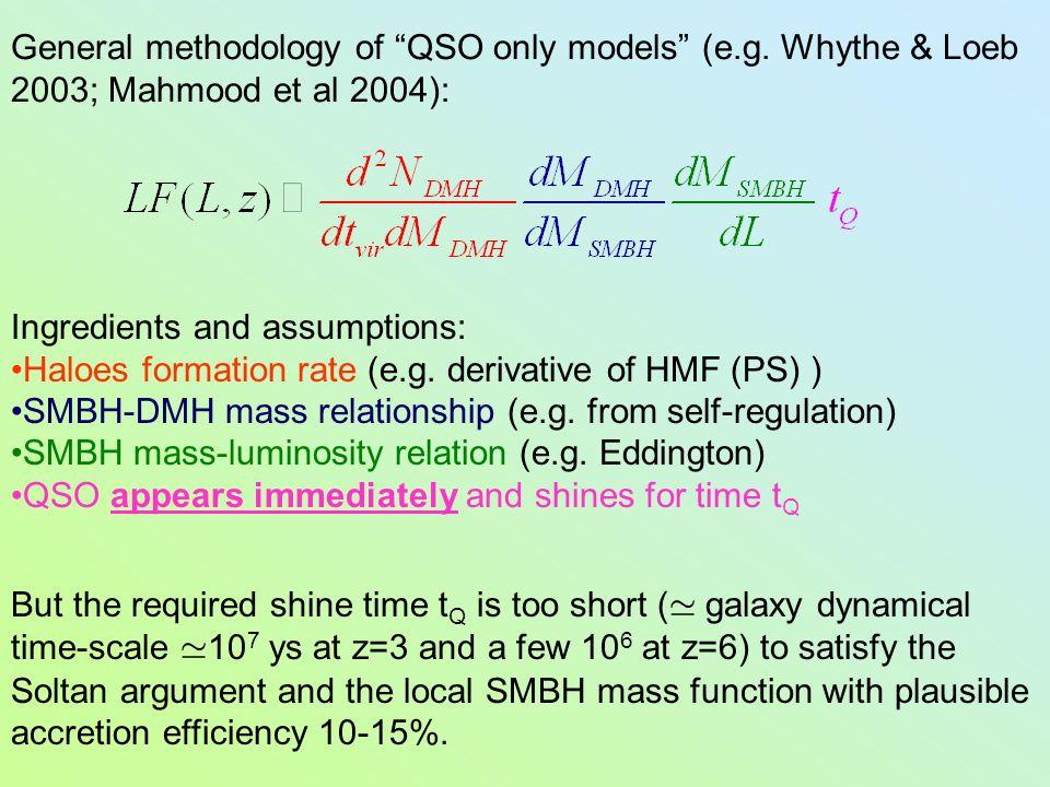 General methodology of QSO only models (e.g.