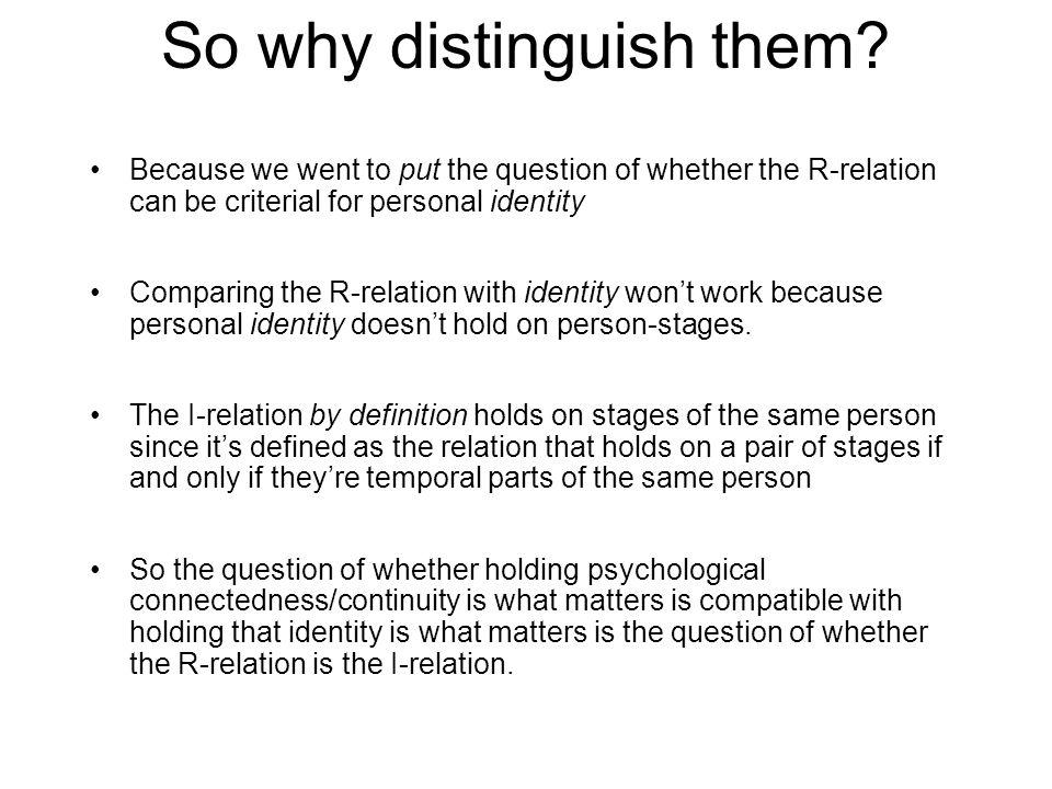 So why distinguish them.
