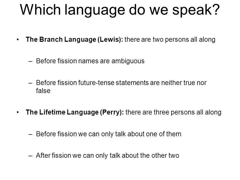 Which language do we speak.
