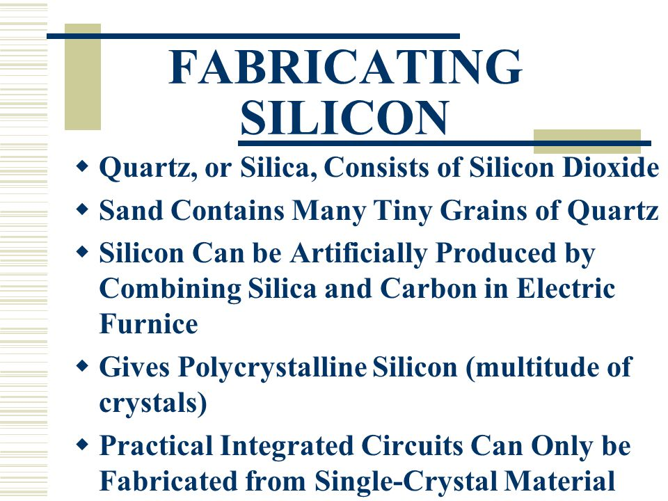 CRYSTAL GROWTH  Czochralski Process is a Technique in Making Single-Crystal Silicon  A Solid Seed Crystal is Rotated and Slowly Extracted from a Pool of Molten Si  Requires Careful Control to Give Crystals Desired Purity and Dimensions