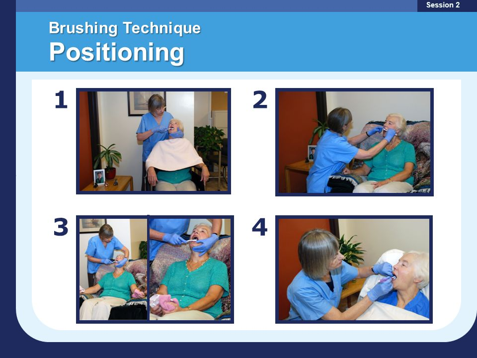 Brushing Technique Positioning Session 2 12 34