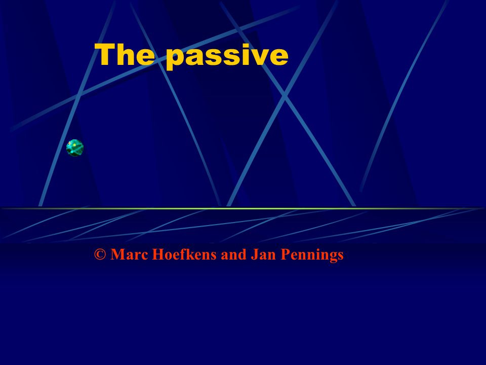 The passive © Marc Hoefkens and Jan Pennings