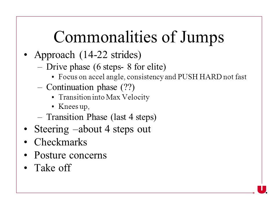 Long Jump Penultimate step Take-off Drive Flight- focus on posture Landing