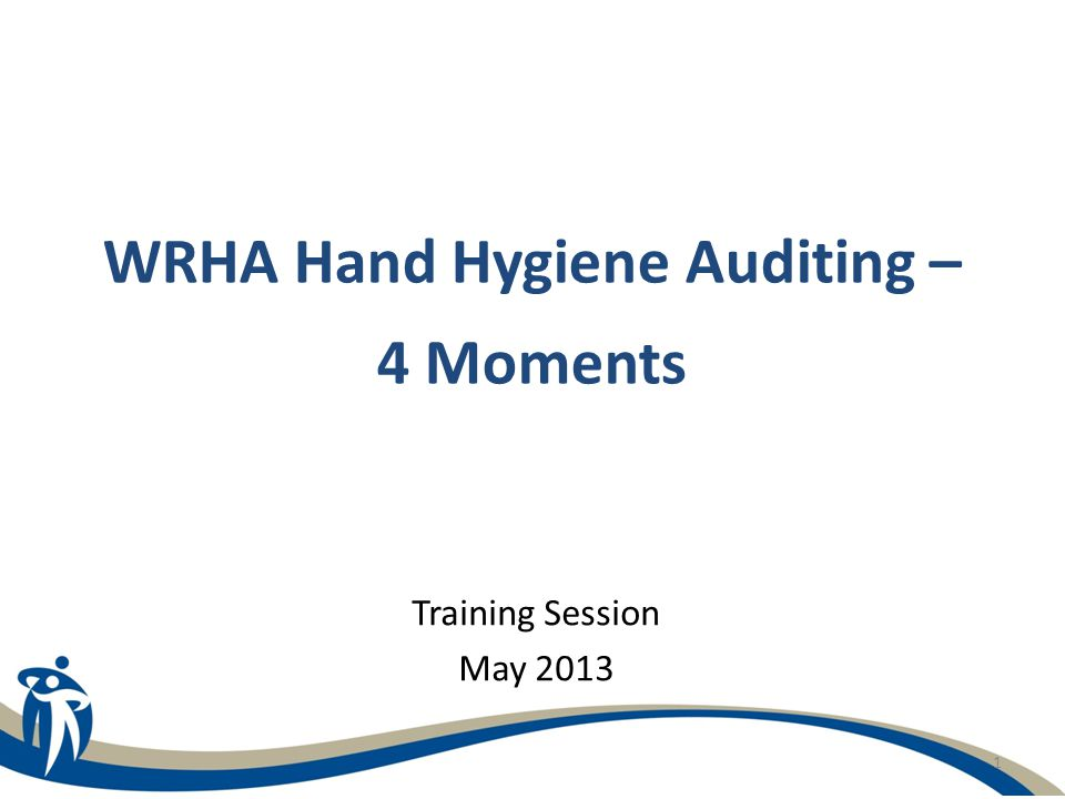1 WRHA Hand Hygiene Auditing – 4 Moments Training Session May 2013