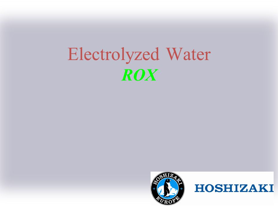 1 Summary Today a new type of water, E-water is the subject of much attention.