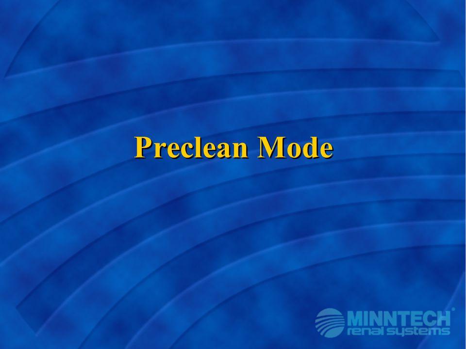 Preclean Mode