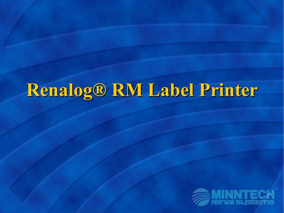 Renalog® RM Label Printer