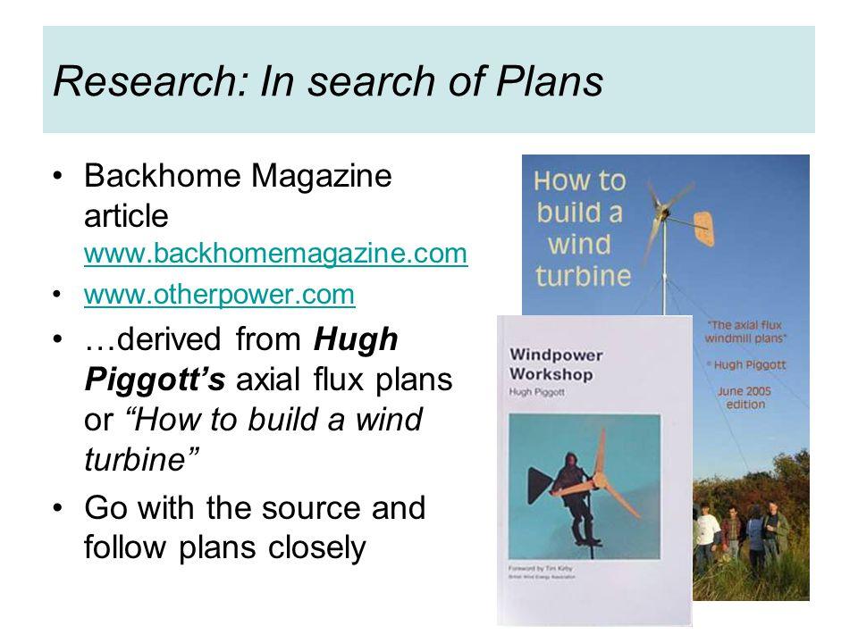 Research: Hugh Piggott Workshops in Washington, Scoraig, CAT, Edinburgh, Ghana, France, Costa Rica, Liverpool…..