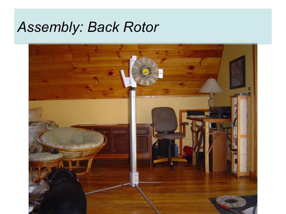 Assembly: Back Rotor