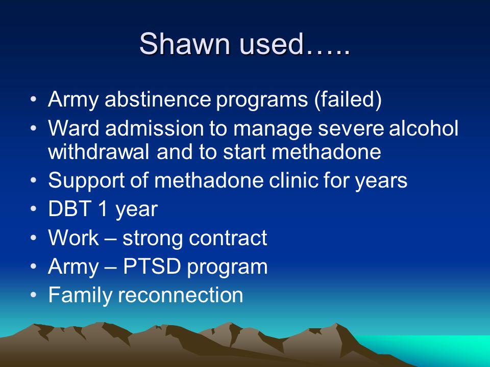Shawn used…..