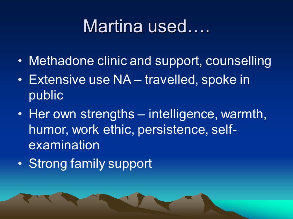 Martina used….