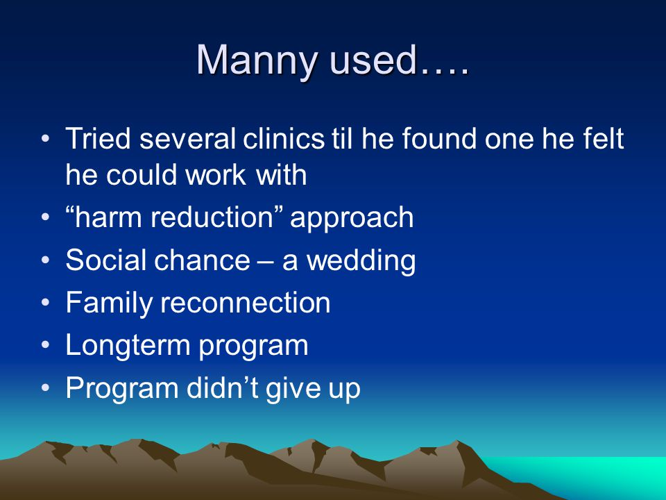 Manny used….