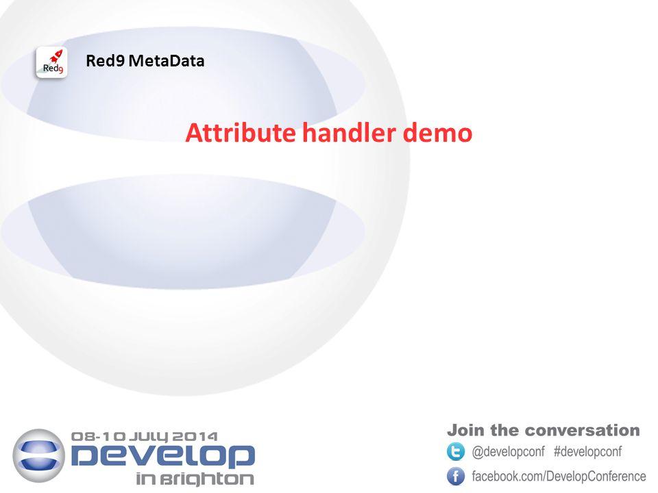 Red9 MetaData Attribute handler demo