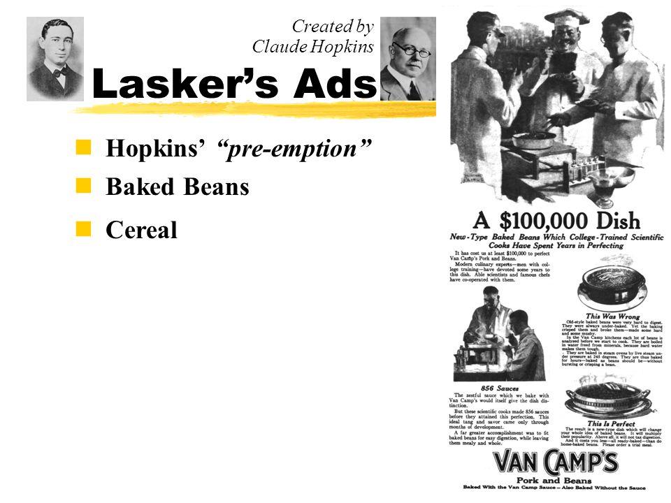 Ad Evolution 1900-1920 n Lasker Hears a Big Idea...