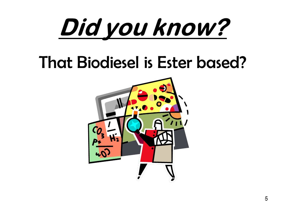 5 Did you know That Biodiesel is Ester based