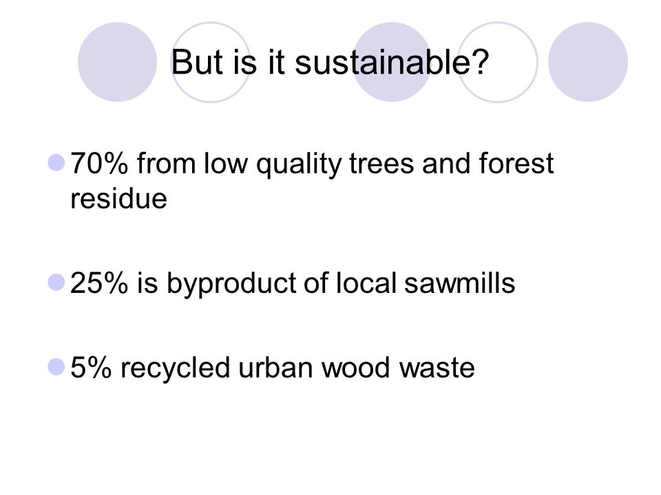 But is it sustainable.